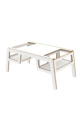 DOUBLE FLEX TABLE white