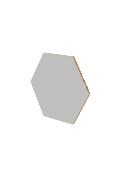 GREY BIG HEXAGON WALL PANEL