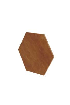 BIG HEXAGON WALL PANEL WALNUT