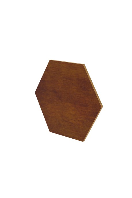 BIG HEXAGON WALL PANEL MAHOGANY