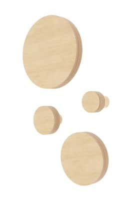 CIRCLE WALL HOOK natural