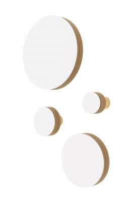 CIRCLE WALL HOOK WHITE