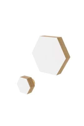 HEXAGON WALL HOOK WHITE