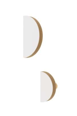 SEMICIRCLE WALL HOOK WHITE