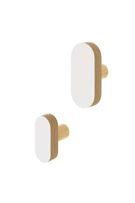 OVAL  WALL HOOK WHITE